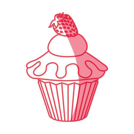 cupcake illustration: cupcake dessert sweet icon vector illustration graphic design Illustration