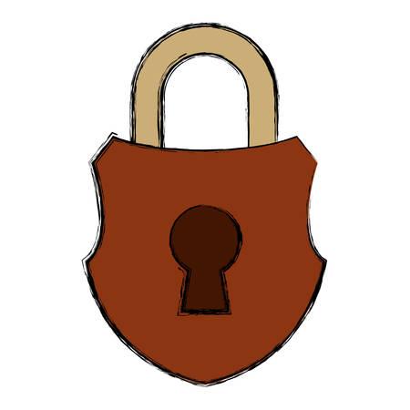 Padlock security symbol icon vector illustration graphic design