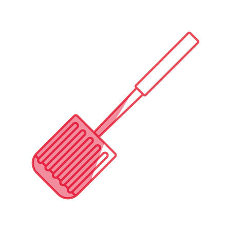 palette knife: spatula kitchenware tool vector icon illustration graphic design Illustration