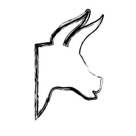 bull icon over white background. vector illustration Illustration