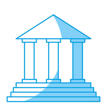 civil rights: law court building icon vector ilustration law