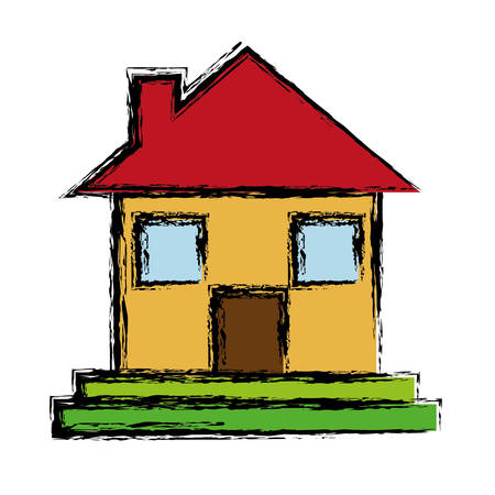 real estate house: house icon over white background. vector illustration