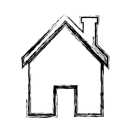 house construction: house icon over white background. vector illustration