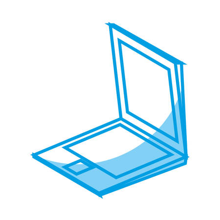 laptop computer icon over white background. vector illustration Illustration