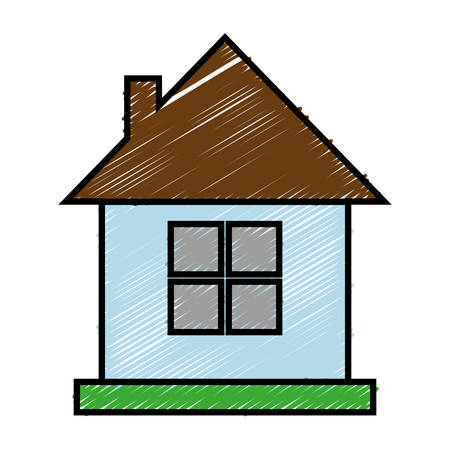 real estate house: house icon over white background. colorful design. vector illustration Illustration