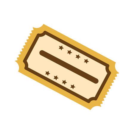 cinema ticket icon over white background. vector illustration