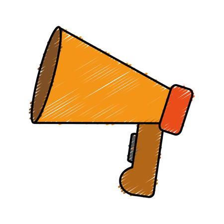 megaphone device icon over white background. vector illustration Illustration