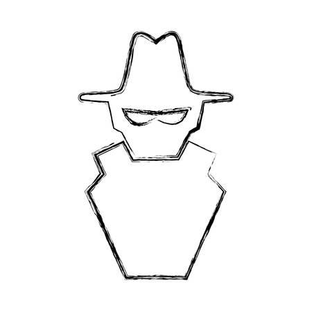 Hacker cartoon symbol Illustration
