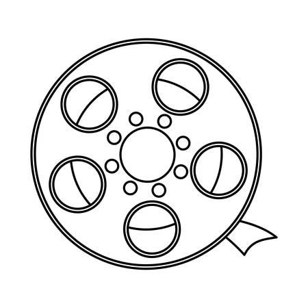 line short filmstrips, cinematography production studio, vector illustration Illustration