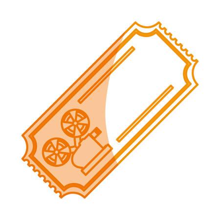 silhouette tickets to cinema movie entertainment movie, vector illustration