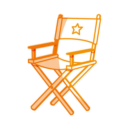 silhouette short film director sit, vector illustration design Illustration