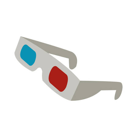 movie theater: 3d glasses to see movie in the cinema, vector illustration