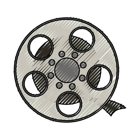 short filmstrips, cinematography production studio, vector illustration
