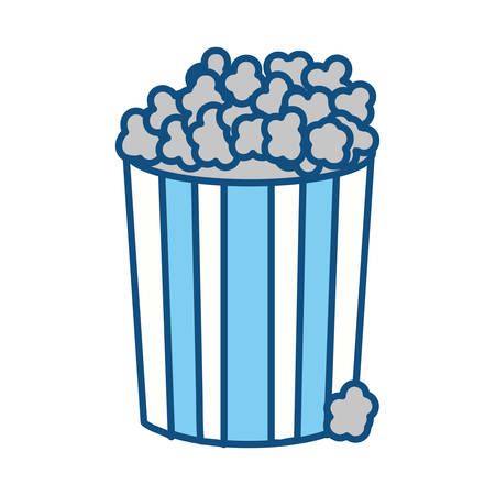 popcorn food in the cinema movie eat, vector illustration
