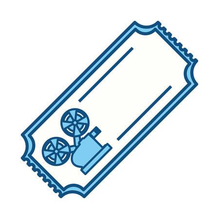 tickets to cinema movie entertainment movie, vector illustration