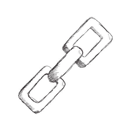 figuur keten symbool pictogram ontwerp, vector illustratie