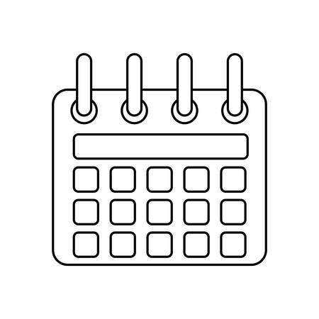 event planning: line calendar symbol icon design, vector illustration