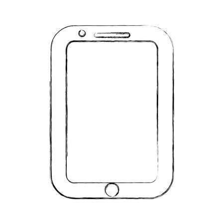 using smart phone: figure nice smartphone symbol icon design, vector illustration Illustration