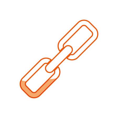 silhouet keten symbool pictogram ontwerp, vector illustratie