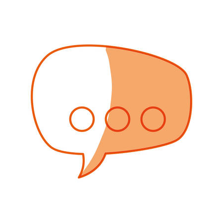 silhouette chat bubbles to message icon, vector illustration Illustration