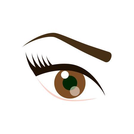 eye icon over white background. vector illustration Illustration