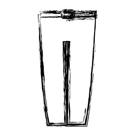 elegant pants icon over white background. vector illustration