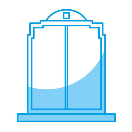 door icon over white background. vector illustration