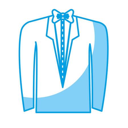 tuxedo icon over white background. vector  illustration