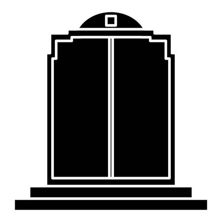 door icon over white background. vector illustration Ilustrace
