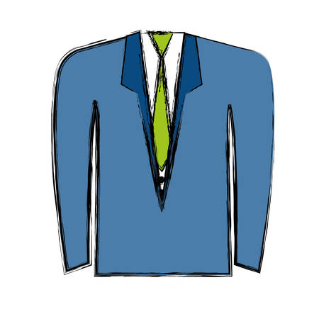 suit and tie icon over white background. colorful design. vector illustration