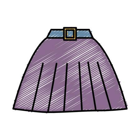 women skirt icon over white background. colorful design. vector illustration Çizim