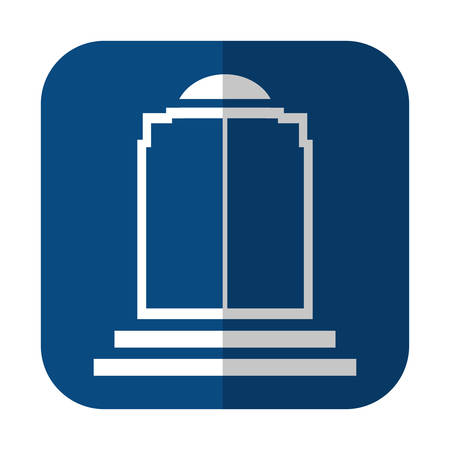 elevator door icon over square and white background. vector illustration