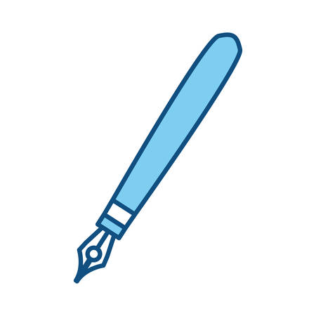 cute luxury pen object to write, vector illustration