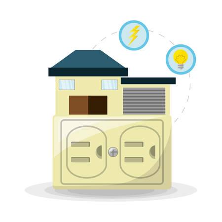 Utilisation alternative d'énergie domestique intelligente, illustration vectorielle Banque d'images - 78846109