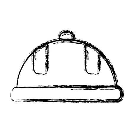 detection: safety helmet icon over white background. vector illustration Illustration