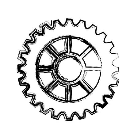 cogwheel icon over white background. vector illustration