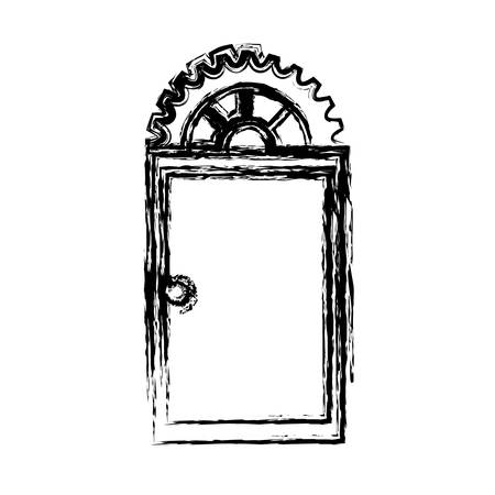 Door icon isolated. vector illustration