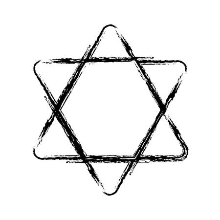 davids star icon over white background. vector illustration