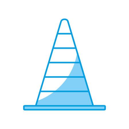 traffic pole: traffic cone icon over white background. vector illustration