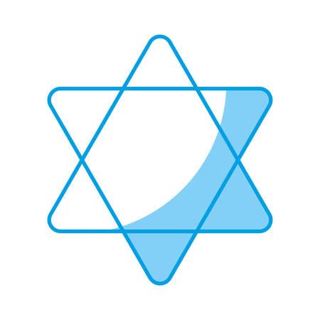 estrella de david: Davids estrella icono sobre fondo blanco. Ilustración vectorial