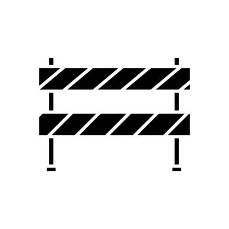 sign post: construction barrier icon over white background. vector illustration