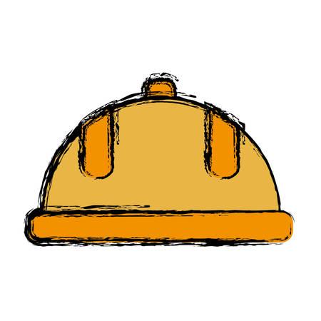 detection: safety helmet icon over white background. colorful design. vector illustration Illustration