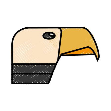 Hawk icon over white background. vector illustration Illustration