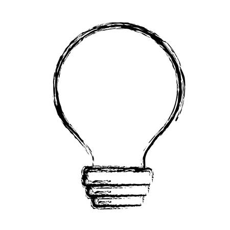 Bulb light icon over white background. vector illustration Illustration