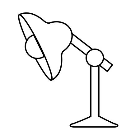 illustraiton: desk lamp icon over white background. vector illustraiton