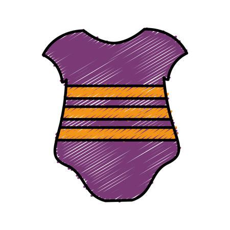 baby clothes icon over white background. colorful design. vector illustration Ilustração