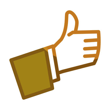 thumb up gesture line icon, vector illustration