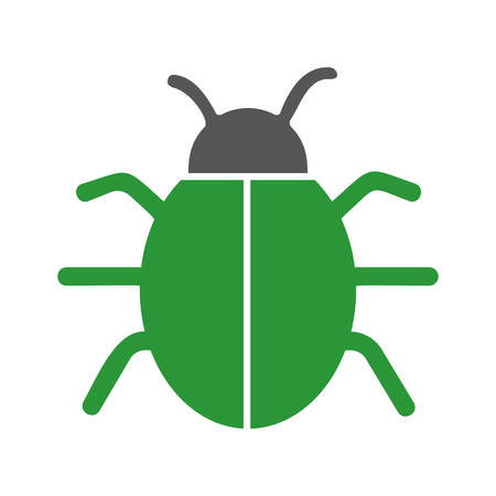 bug icon over white background. vector illustration