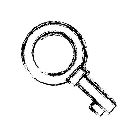 medieval key icon over white background. vector illustration Illustration