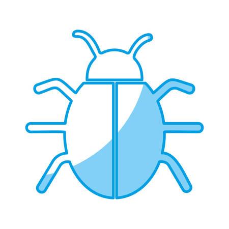 bug icon over white background. vector illustration